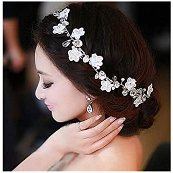 Amazoncom Crystal Diamond Bride Bridal Wedding Hair Head Band