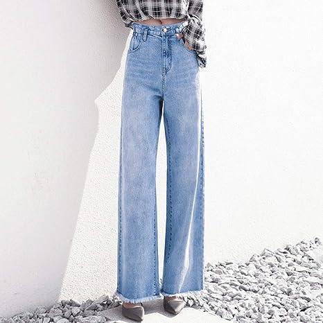 RXF Jeans Rectos Mujer Pantalones Anchos Flojos Vintage ...