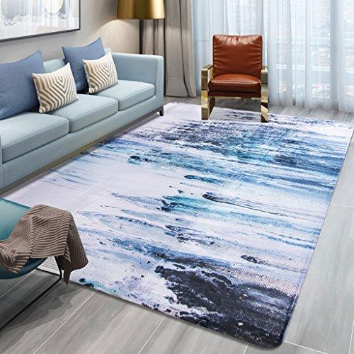 Price comparison product image Modern European Style Coral Velvet Carpet,  Living Room Bedroom Area Rugs Coffee Table Sofa Bedside Blanket,  Non-Slip Carpet (Color : D,  Size : 100x150cm)