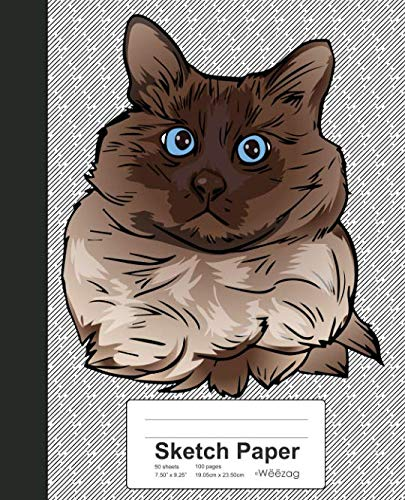 Sketch Paper: Book Balinese Cat (Weezag Sketch Paper Notebook)