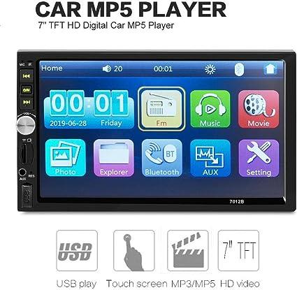 Car Stereo MP4 Radio 1 DIN In Dash 12V SD//USB FM Player 3.1/'/' Audio Rear Camera
