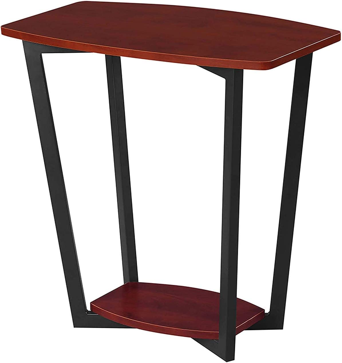 Convenience Concepts Graystone End Table, Cherry / Black Frame