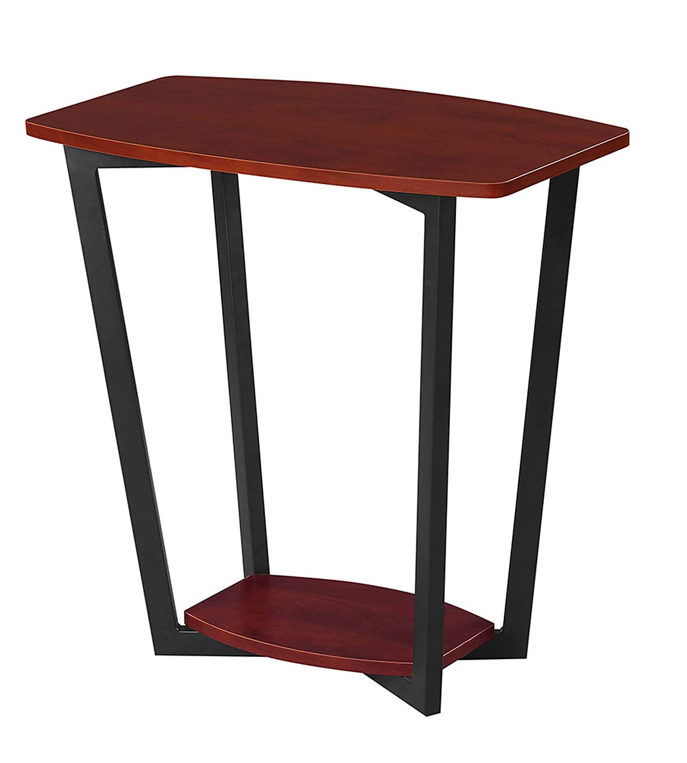 Convenience Concepts Graystone End Table, Cherry Black Frame