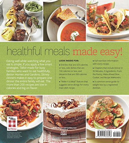 Better Homes and Gardens Skinny Dinners: 200 Calorie-Smart Recipes ...