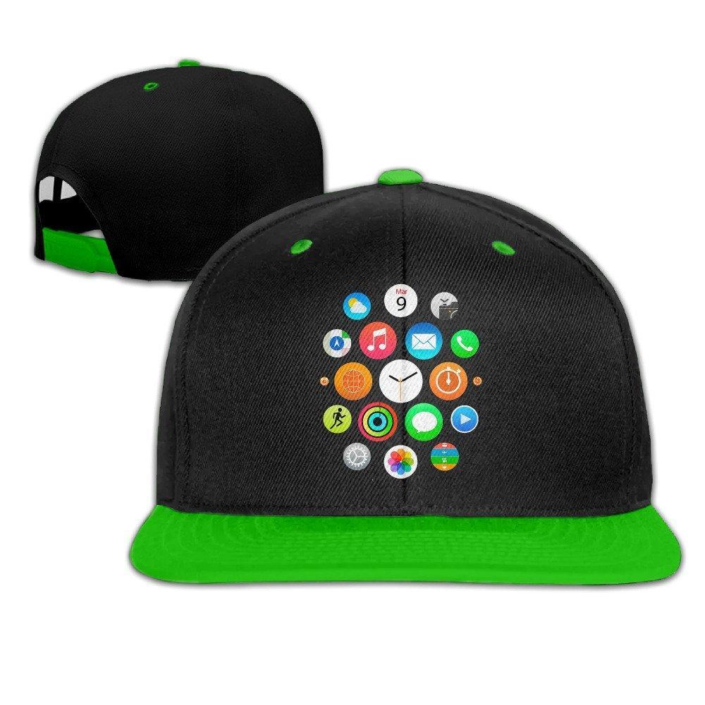 Amazon.com  IEEFTA Apple Logo Adjustable Snapback Hip-hop Baseball ... 3034411463f