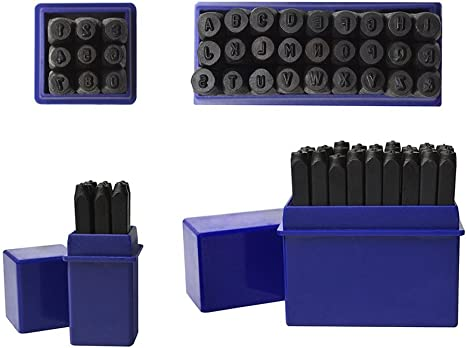 36 Pc 3//32 2.5 mm Steel Stamps Punch Set for Stamping Metal Letter Alphabet Number Marking Gold Silver Bars Jewelry Marking Tool