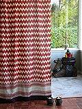Spice Route (CP) ~ Red Orange Moroccan Chevron Print Curtain 46×63 Review
