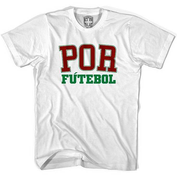 Portugal por camiseta de fútbol blanco blanco XL