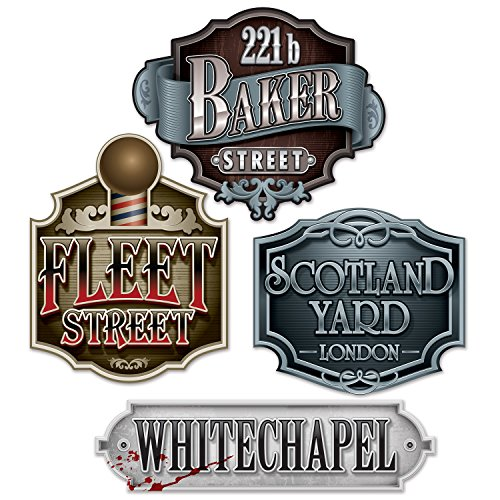 beistle-53304-12piece-sherlock-holmes-decorative-sign-cutouts-1125-to-18-multicolored