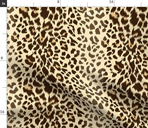 - Spoonflower Leopard Fabric - Animal Print Cheetah Wild Leopard Print by Shellypenko Printed on Petal Signature Cotton Fabric by The Yard