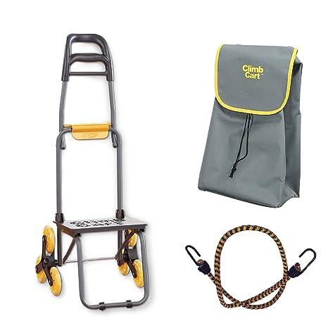 Climb Cart - Carro de la compra plegable y grande con bolsa jumbo y correa con tensor ...