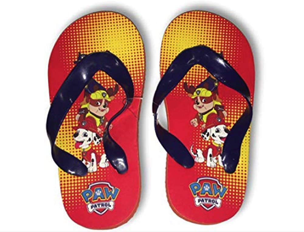 Paw Patrol Flip Flops Chase Marshall /& Ruble Summer Sandals Baby Boys Size 1//2 /& 3//4 Baby 3//4, Paw Patrol Red