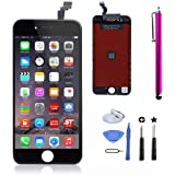 LCD Touch Screen Digitizer Frame Assembly Full Set LCD Touch Screen Replacement for iPhone 6(4.7inch) (black )