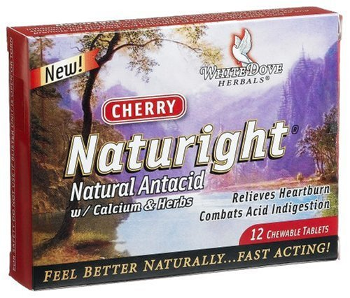 UPC 654641430018, Naturight Natural Antacid with Calcium & Herbs, 12-Count Chewables Tablets (Pack of 3)