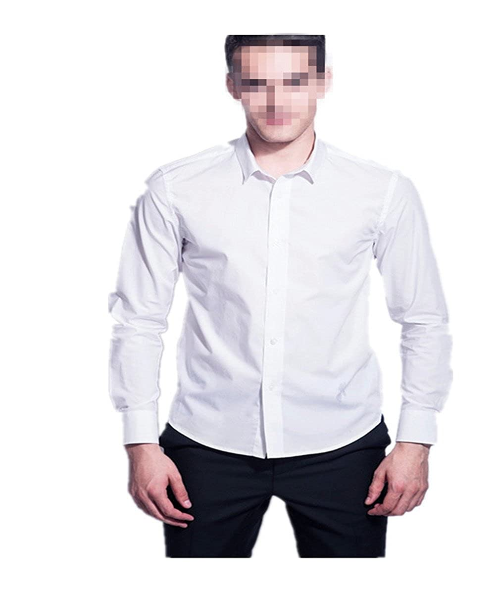 Camisa blanca Caballero Suerte Clásico para Ocasion Formal Manga ...