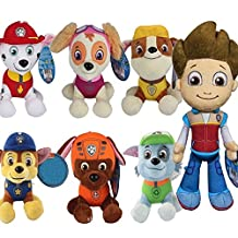 7PCS 12cm Chase, Marshall, Rubble, Chase, Skye, Rocky, Zuma and Ryder Patrol Puppy Plush Doll Dog Plush Pup Pals