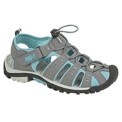 PDQ Damen Sport Sandalen mit Toggel und Klettverschluss (39 EU) (Schwarz/Pink) wOQbH0mEe9