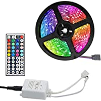 LED Lightstrip RGB Lights String 1/2/3/5/10/20m USB Powered with 44-Key Remote Multicolor for TV Window Bedroom Restroom…