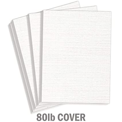 Amazon Com Hamilco White Resume Linen Textured Cardstock Paper 8