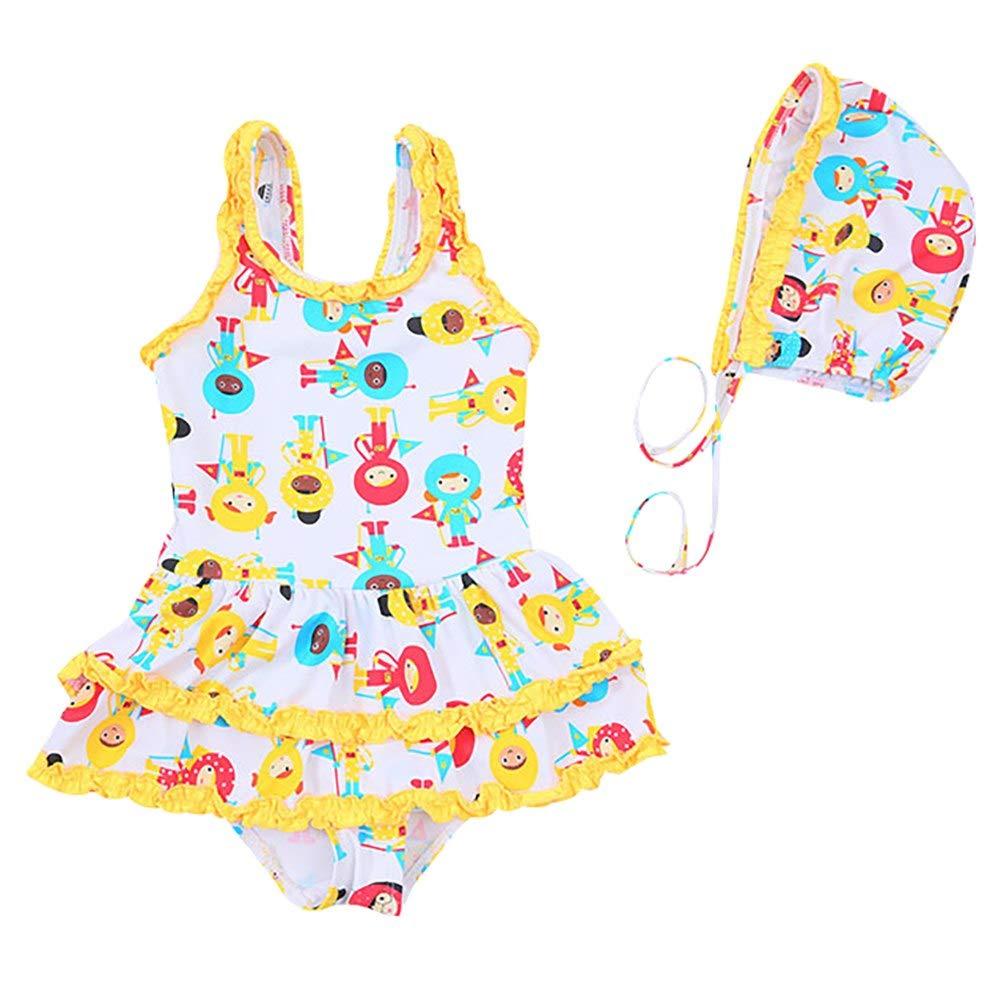 Kids Baby Girls Sleeveless Sling Leopard Bowknot Tops+Flower Shorts Swimsuit Set Waymine