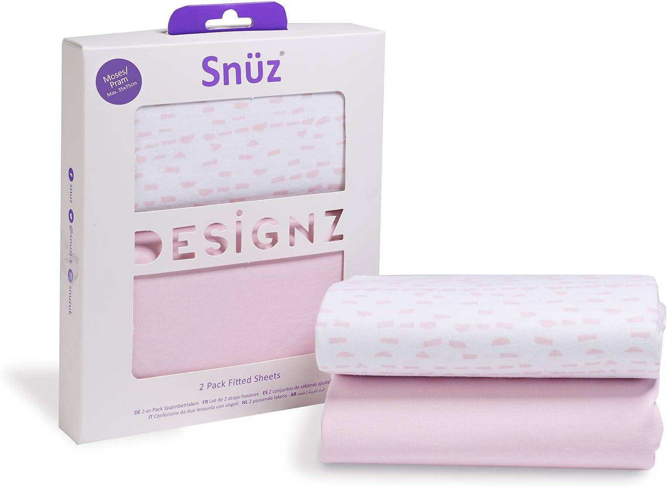 Paquete de 2 s/ábanas bajeras Snuz para mois/és y cochecito de beb/é Rose Wave