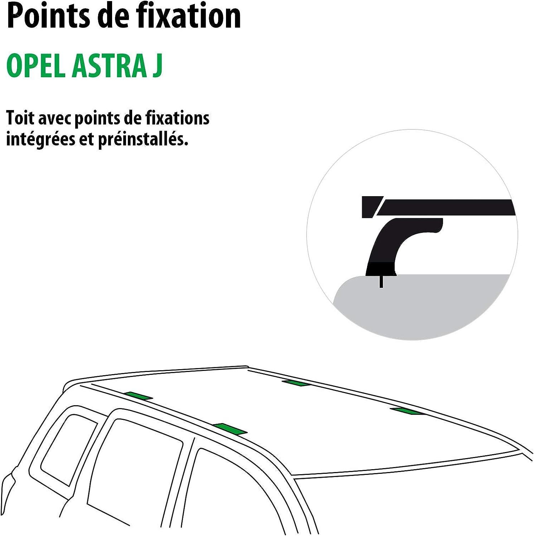 118852-08261-3-FR Rameder Pack Barres de Toit Tema pour Opel Astra J