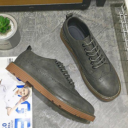Oxfords PU Dimensione Grigio Scarpe Shoes Traspirante stringati PU Marrone di OutSole EU Business da Mocassini scarpe Color BMD Soft 40 Flats uomo pelle Casual TPRCw
