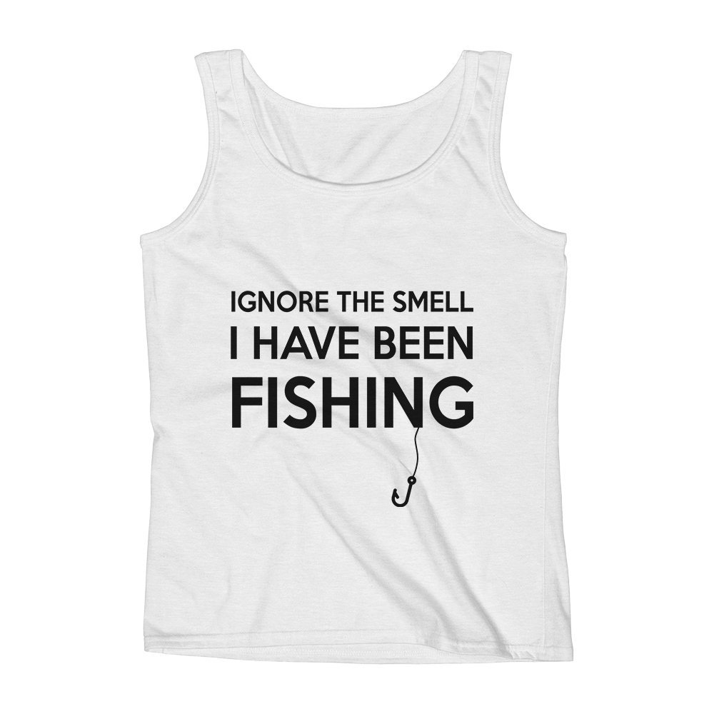 Mad Over Shirts Ignore The Smell I Have Been Fishing Unisex Premium Tank Top