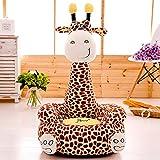 Cartoon Seats Giraffe Soft Children's Plush Chair Ideal for Children, Tatami Sofa,Ages 2 and up,17''L x 19''W x 31'' H (brown)
