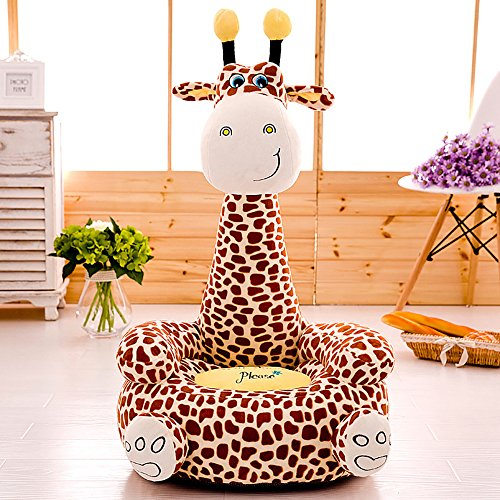 Cartoon Seats Giraffe Soft Children's Plush Chair Ideal for Children, Tatami Sofa,Ages 2 and up,17''L x 19''W x 31'' H (brown) by Kally Shop