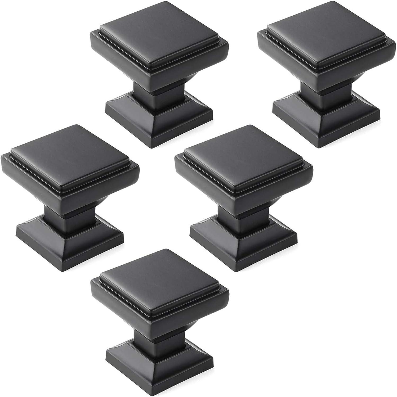 color negro mate Tiradores para muebles de cocina Goldenwarm T16BK 10 unidades
