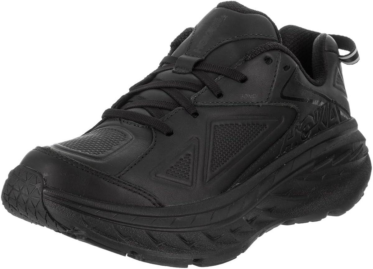 Hoka One W Bondi LTR Wide Black Running Shoes