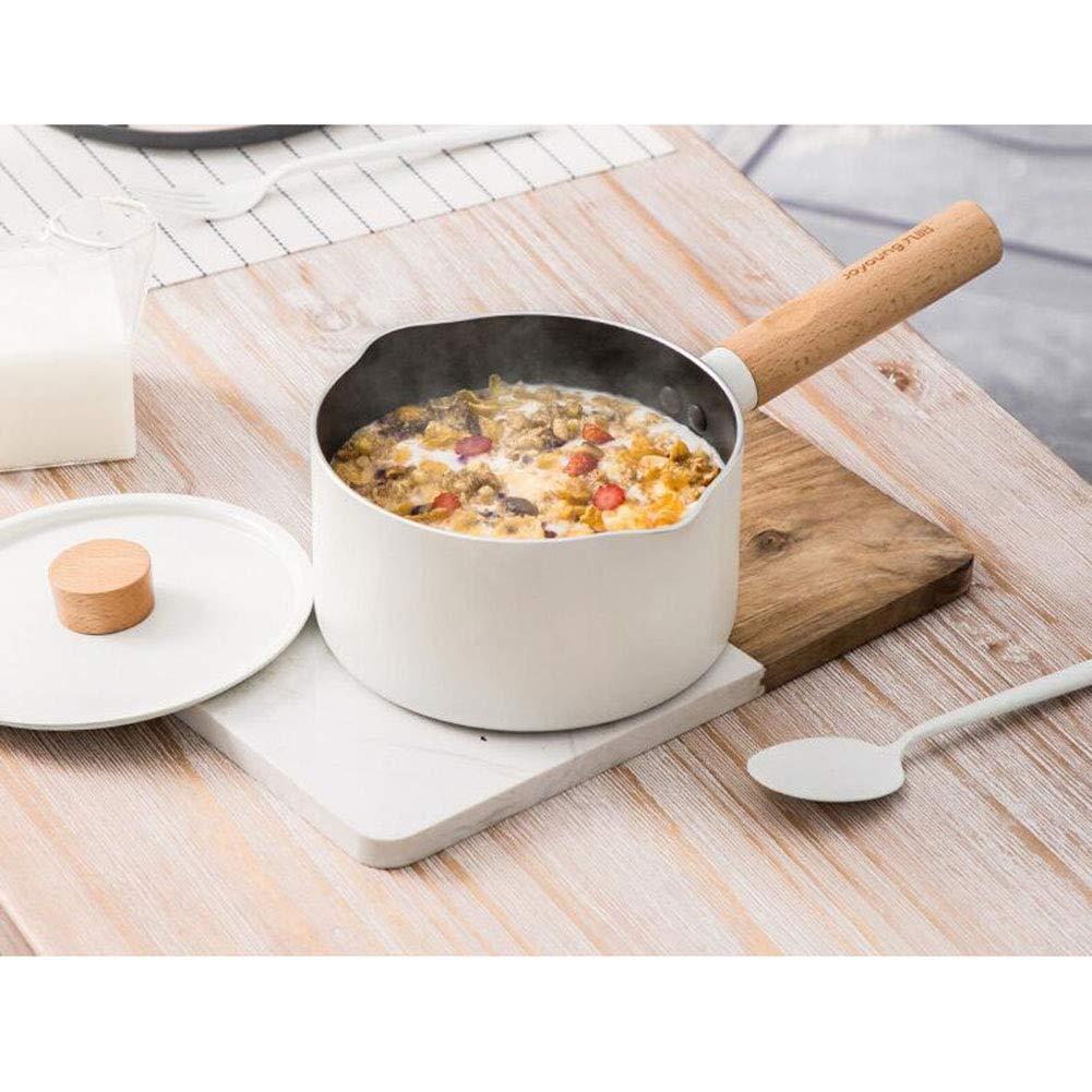 Desconocido FF Milk Pot Bebé Suplemento de Comida para bebé Pot Antiadherente Sartén Cocina casera Pot Pot Noodle Pot Small White Pot: Amazon.es: Hogar