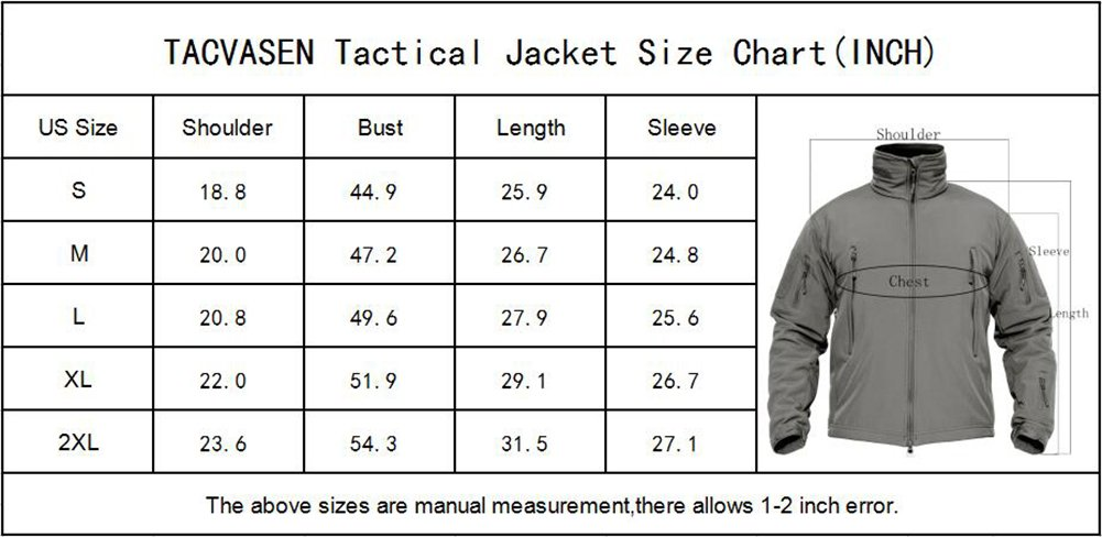 TACVASEN Men's Outdoor Vintage Classic Durable Military Tactical Jacket Coat Sand,US M(fit chest:35''-38'') by TACVASEN (Image #7)