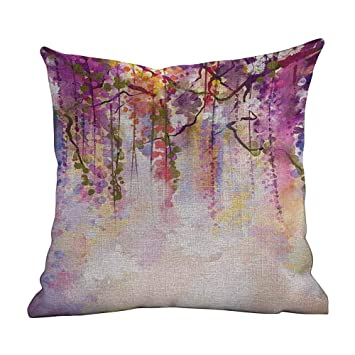 Amazon.com: Fundas de almohada estándar con diseño de flores ...