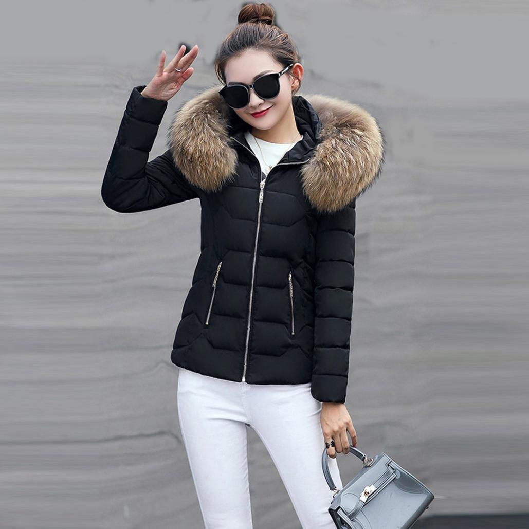 Amazon.com: Moda Mujer sólido más grueso invierno cálido ...