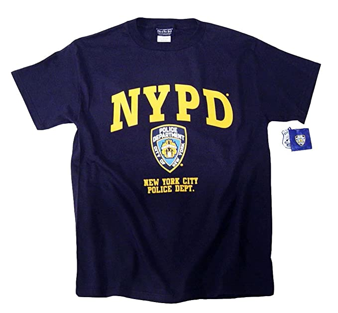 a4576256 Amazon.com: NYPD T-Shirt Navy Blue Authentic Clothing Apparel ...