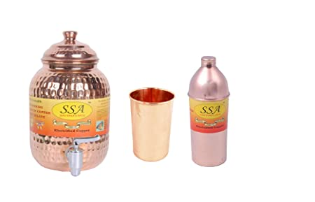 Dispensador de agua SHIL SHAKTI ARTS 1 de cobre puro con diseño ...
