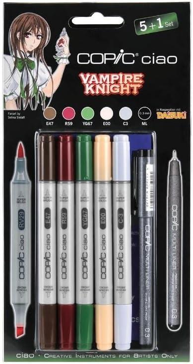 Copic - Juego de rotuladores Ciao (5 + 1) Vampire Knight 22075567: Amazon.es: Oficina y papelería