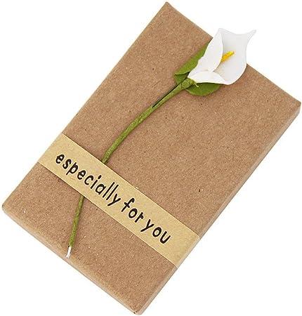 Caja de regalo para joyas (collar, pulsera, anillo, pendientes), con flor: Amazon.es: Hogar