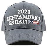 THE HAT DEPOT Exclusive Trump 2020'' Keep America Great 3D Cap (2020-Grey)