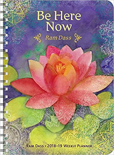 ram dass 2018 2019 on the go weekly planner 17 month calendar with pocket aug 2018 dec 2019 5 x 7 closed