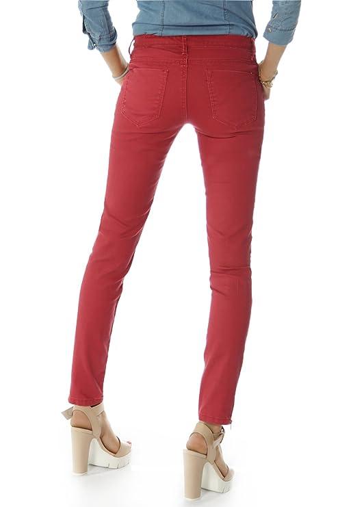 Super Stretch Jeggings Damen Hosen aus Denim Stretch in zwei Farben j66i