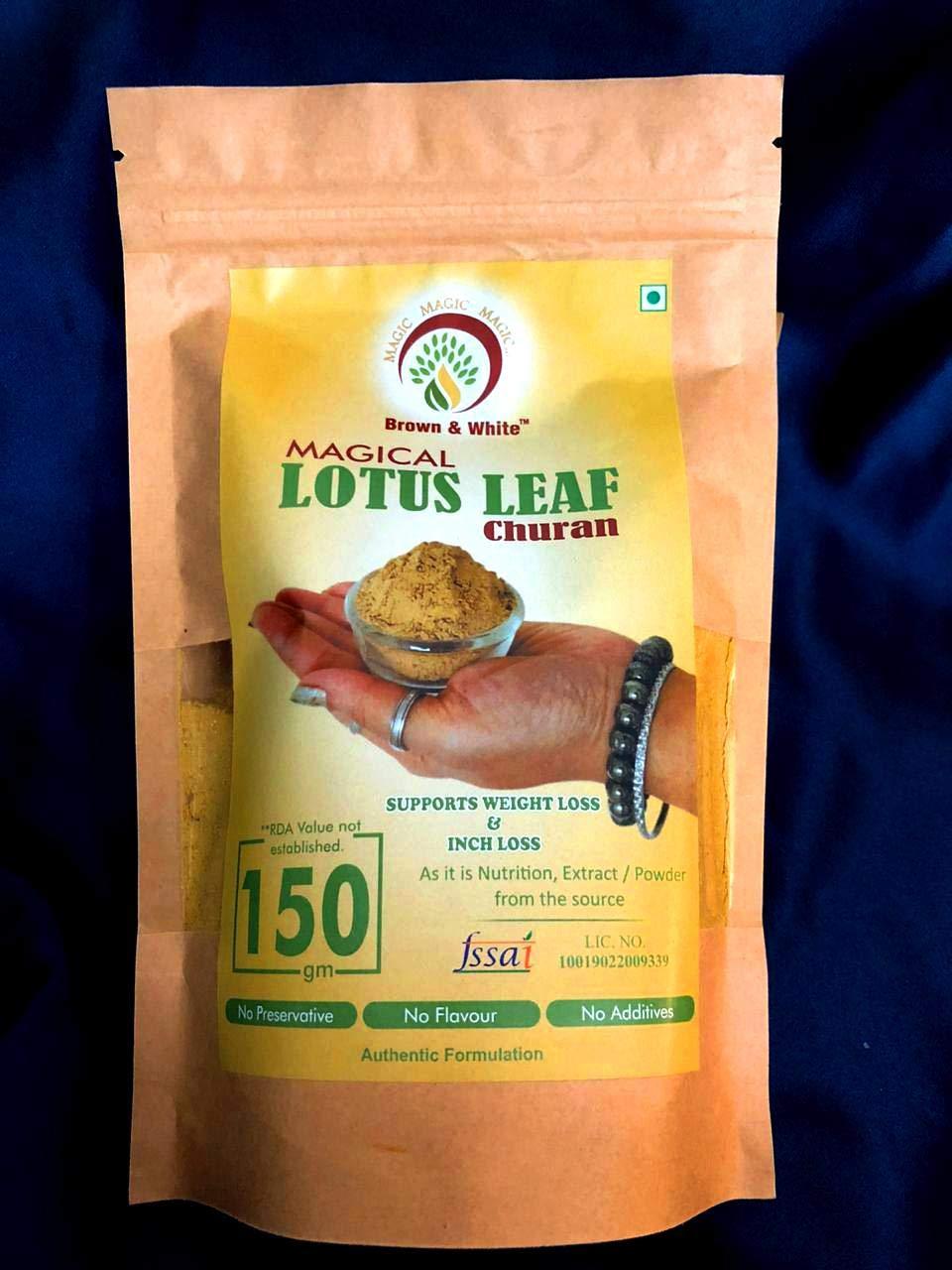 Brown White Magical Lotus Leaf Churan For Wellness Hair Skin 150gm Amazon In Health Personal Care