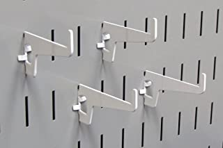 product image for Wall Control Pegboard 2-7/8in Long Reach Slotted Hook Pack - Slotted Metal Pegboard Hooks for Wall Control Pegboard and Slotted Tool Board – White