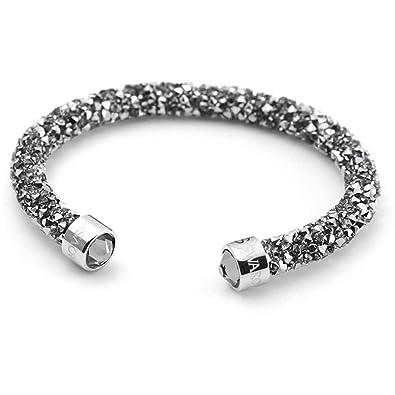 d86445031b5 Amazon.com: Swarovski Crystaldust Cuff, Gray, S 5255912: Swarovski: Jewelry