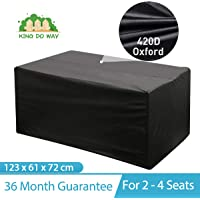 king do way Garden Furniture Cover Table Cover Large Waterproof Patio Cover for Chair and Table Sofa Set Cover Dustproof Rainproof Rectangle