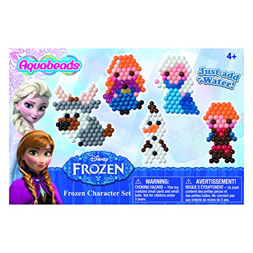Aquabeads - Disney Frozen Character Playset - Your Child Can Create Colorful Bead Art - Spray to Set Bead Designs for a Lasting Craft - Contains Over 800 Beads (Aqua Water Beads)
