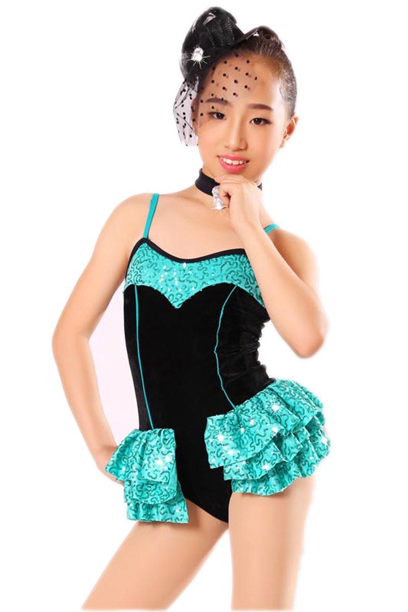 特価商品  B07JJHBMWX女の子のためのラテンダンスドレス体操レオタードバレエ子供用BO10(MC(110-120CM)、青) B07JJHBMWX, トウガネシ:a90eea9e --- a0267596.xsph.ru