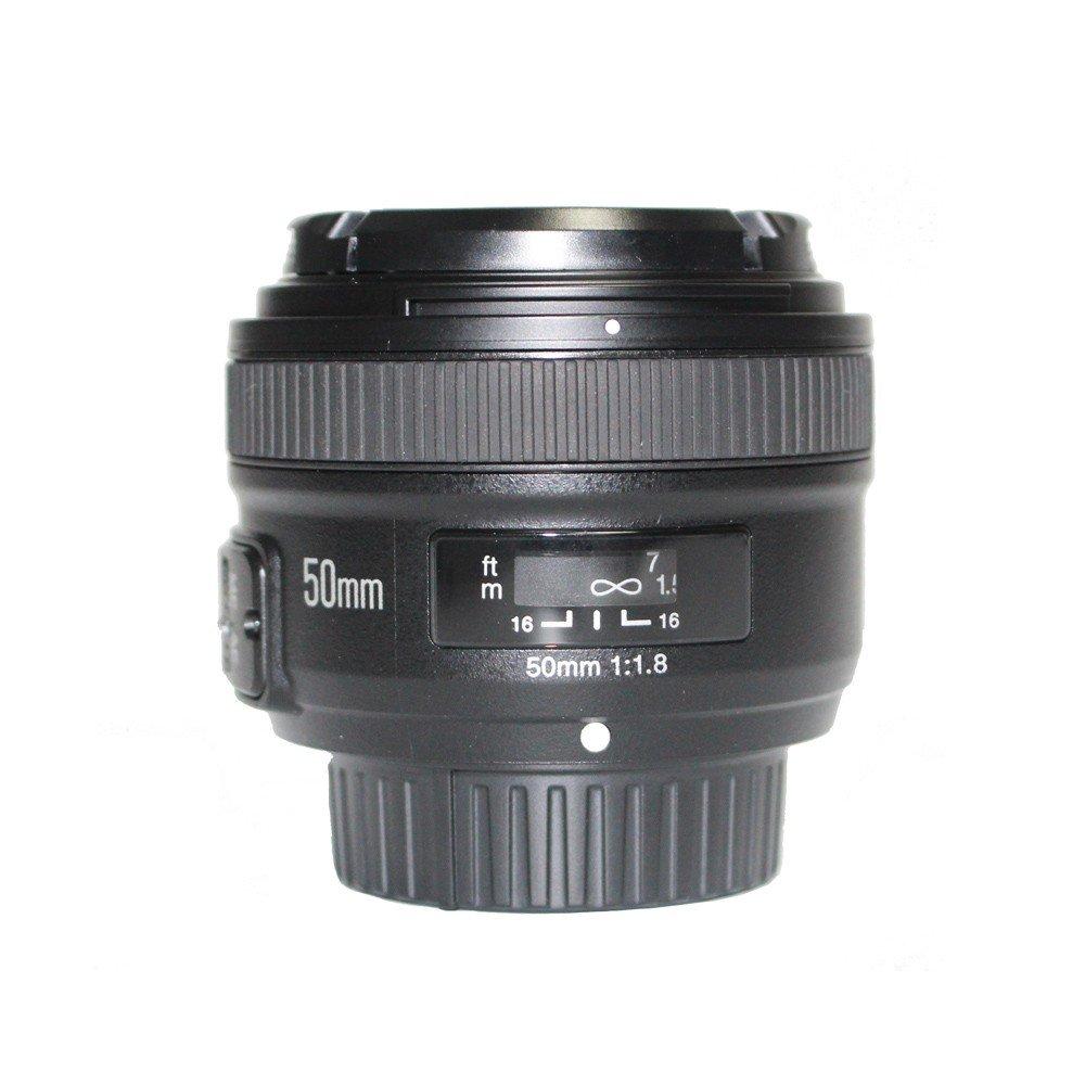 YONGNUO YN EF 50mm f/1.8 AF Lens YN50 Aperture Auto Focus for Nikon Cameras as AF-S 50mm 1.8G With EACHSHOT Cleaning Cloth